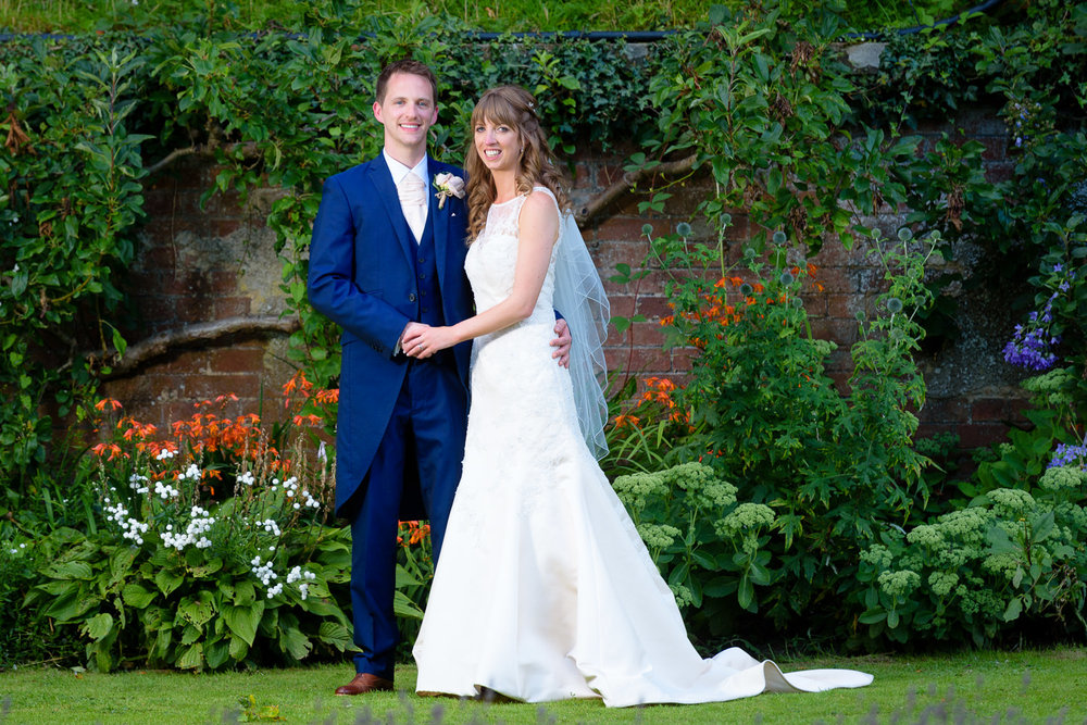Bride and Groom portrait at Callow Hall wedding