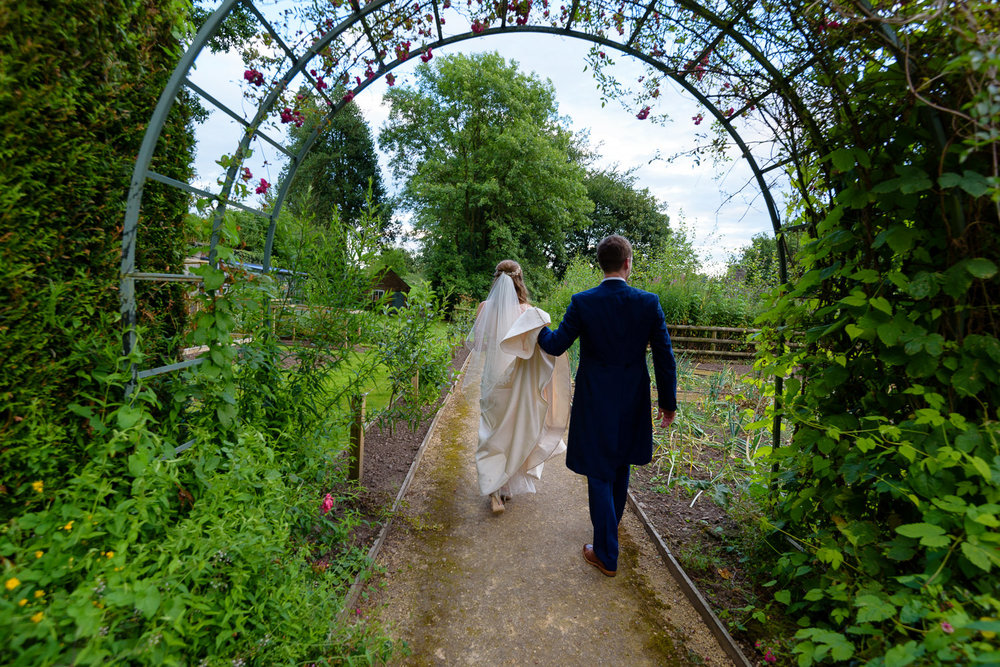 Callow Hall bride and groom portrait