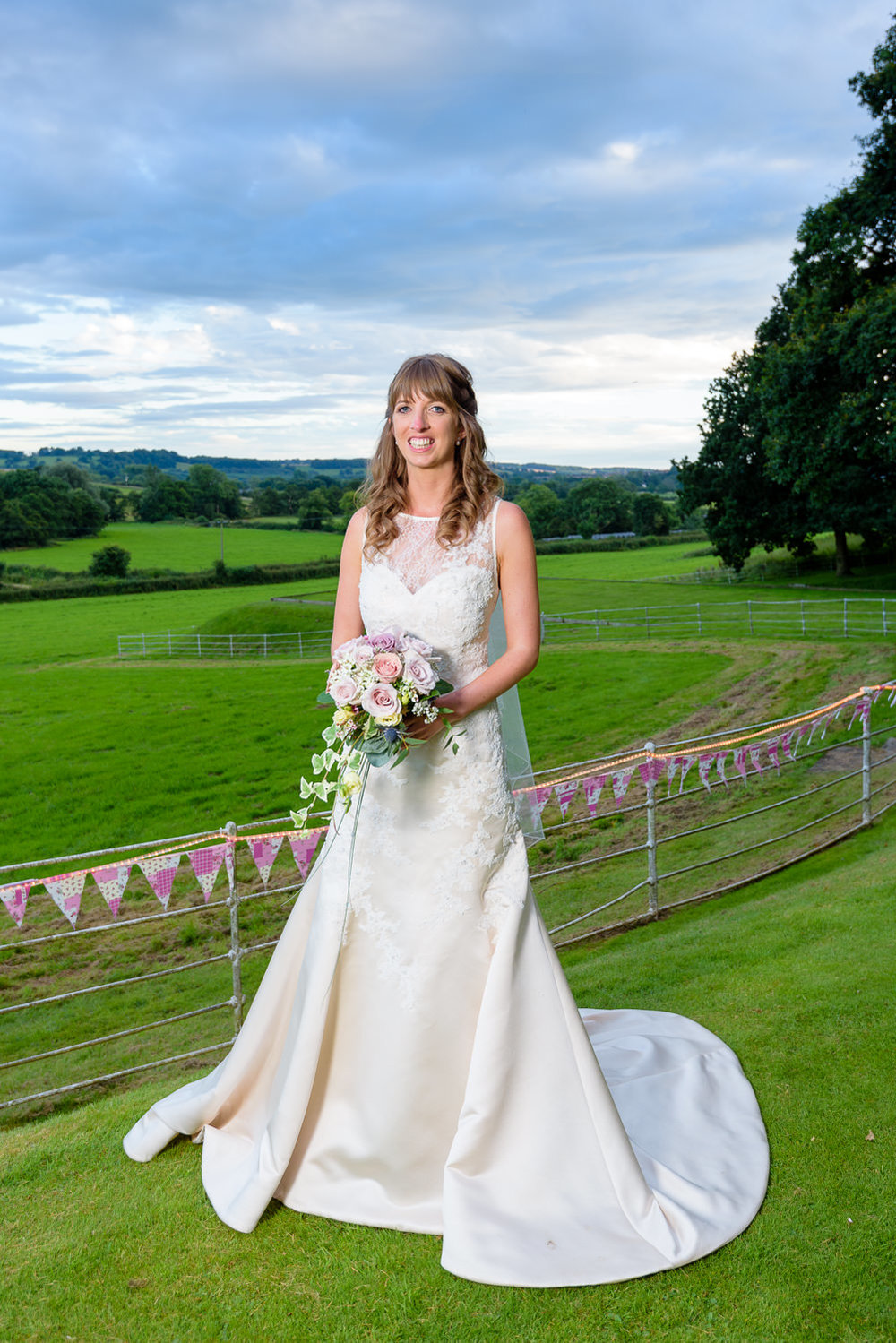 Portrait of the bride at Callow Hall wedding