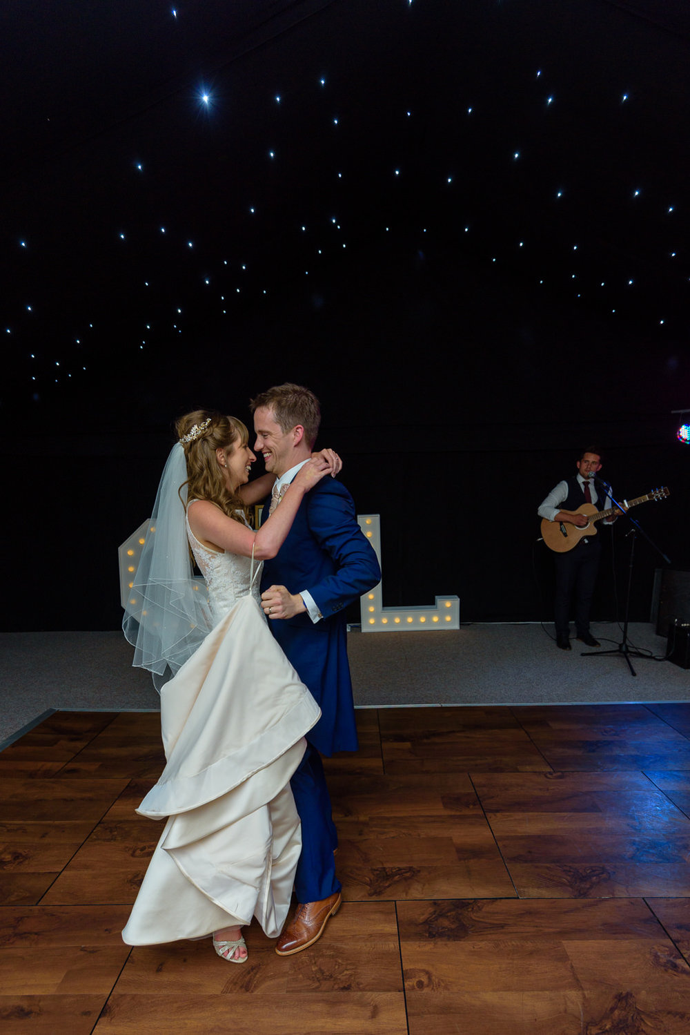 Bride and groom first dance at Callow Hall