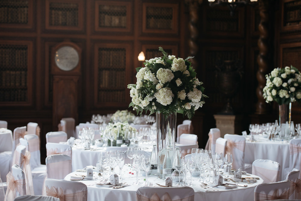Wedding flowers at Burghley house