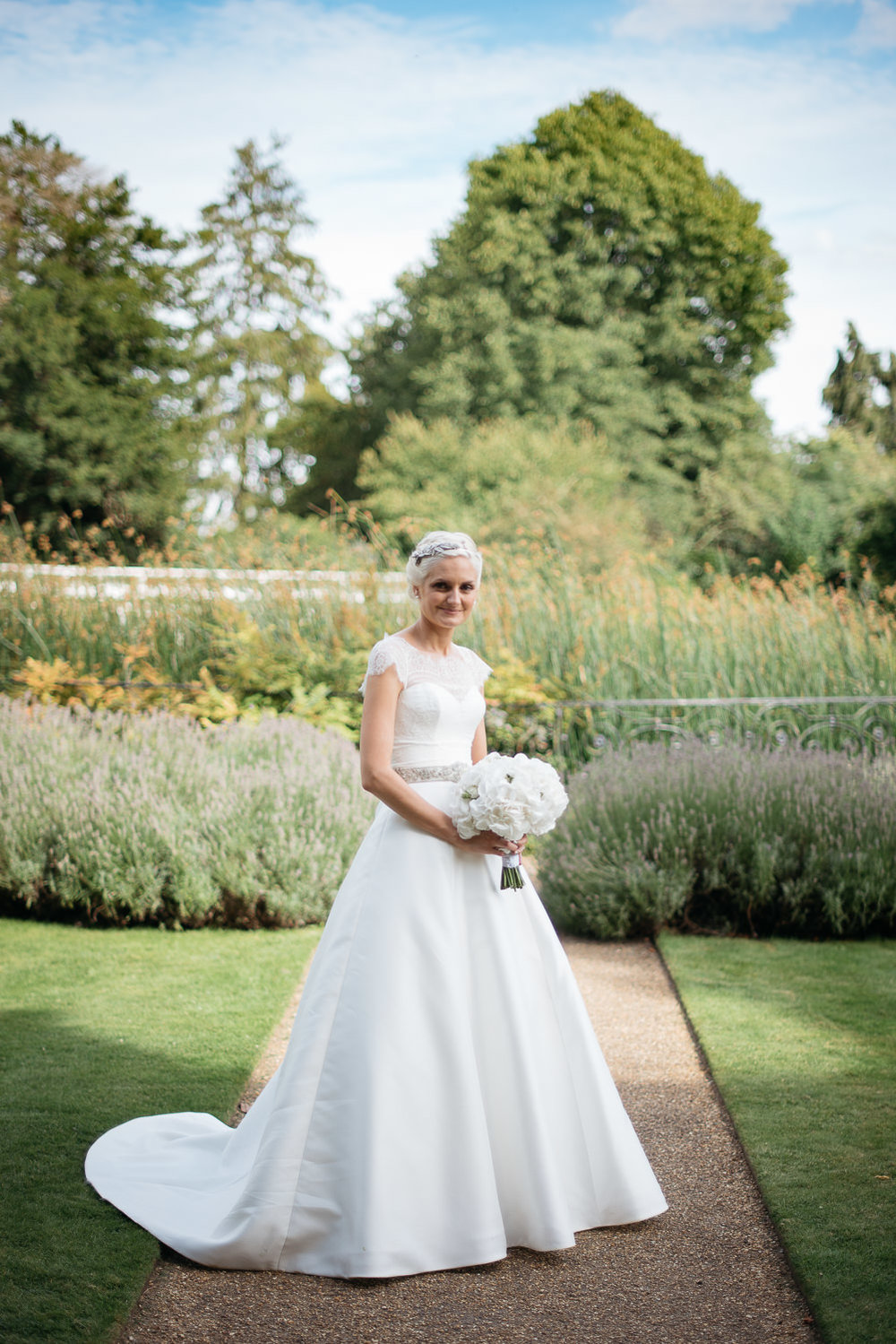 Bridal portrait at Burghley House