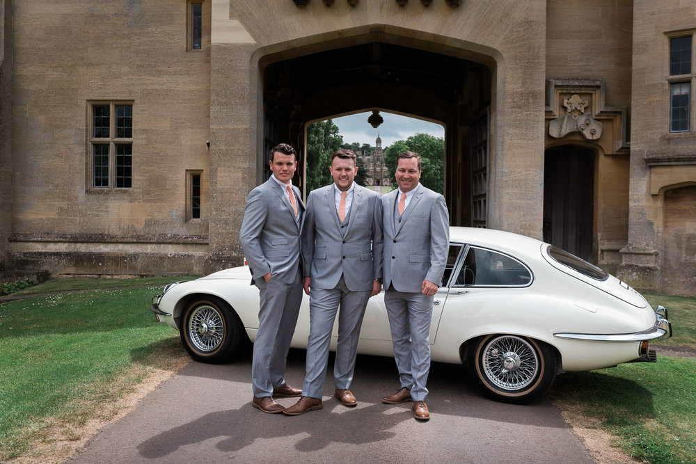 Groomsman at Harlaxton Manor Wedding