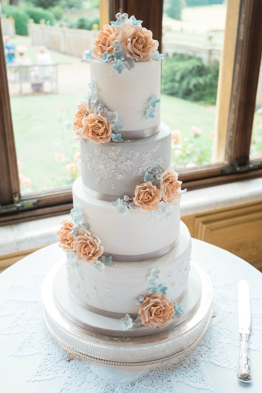 Wedding cake at Harlaxton Manor