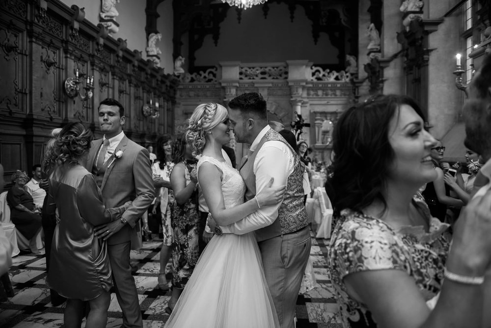 First dance at Harlaxton Manor wedding