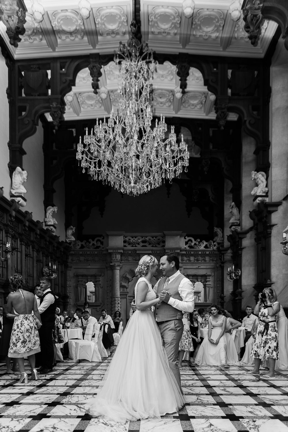 Father and daughter dance at Harlaxton Manor wedding