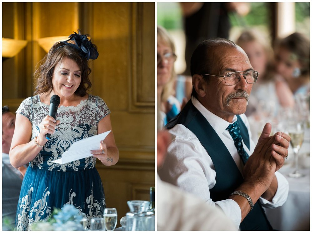 Wedding speeches at Harlaxton Manor