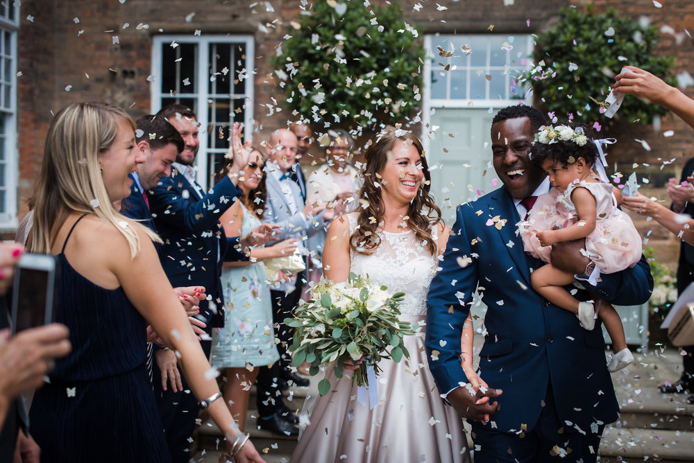 Confetti at The West Mill Wedding Photography