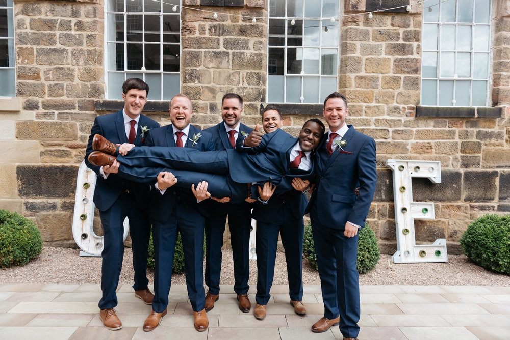 Groomsman at The West Mill Derby Wedding
