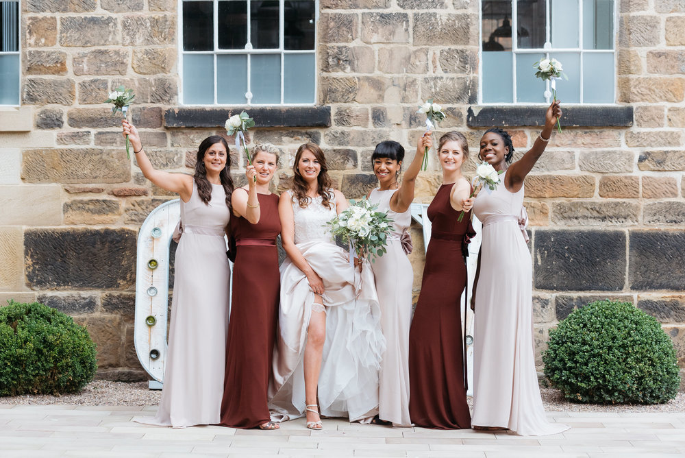 Bridesmaids at The West Mill Derby Wedding Photography