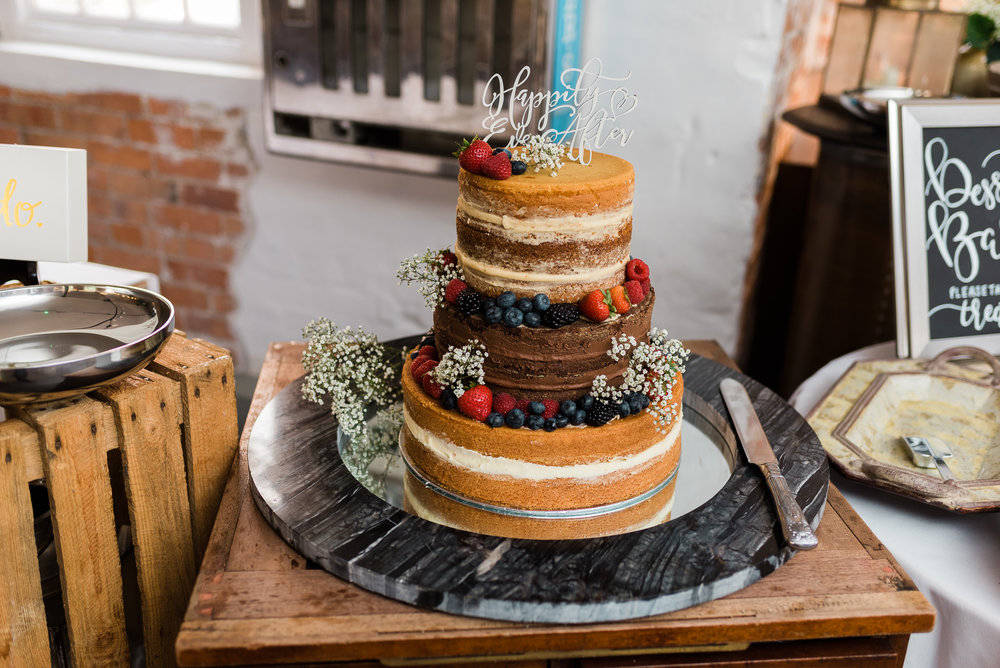 Wedding cake at The West Mill wedding