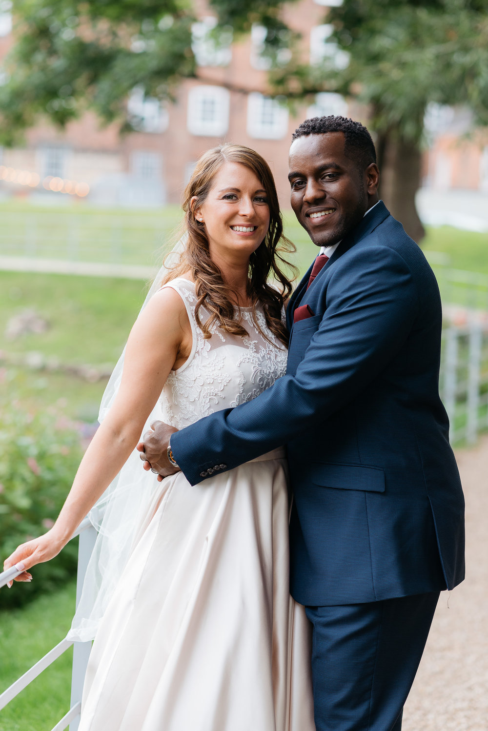 Bride and groom portrait at The West Mill wedding photography