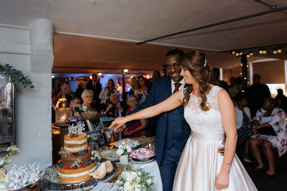 Cake cutting at The West Mill Derby