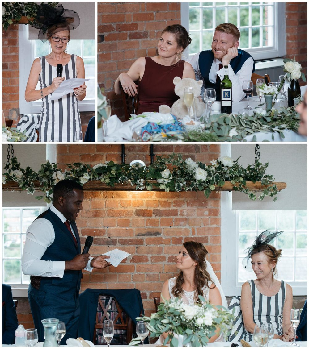 Wedding speeches at The West Mill Derby