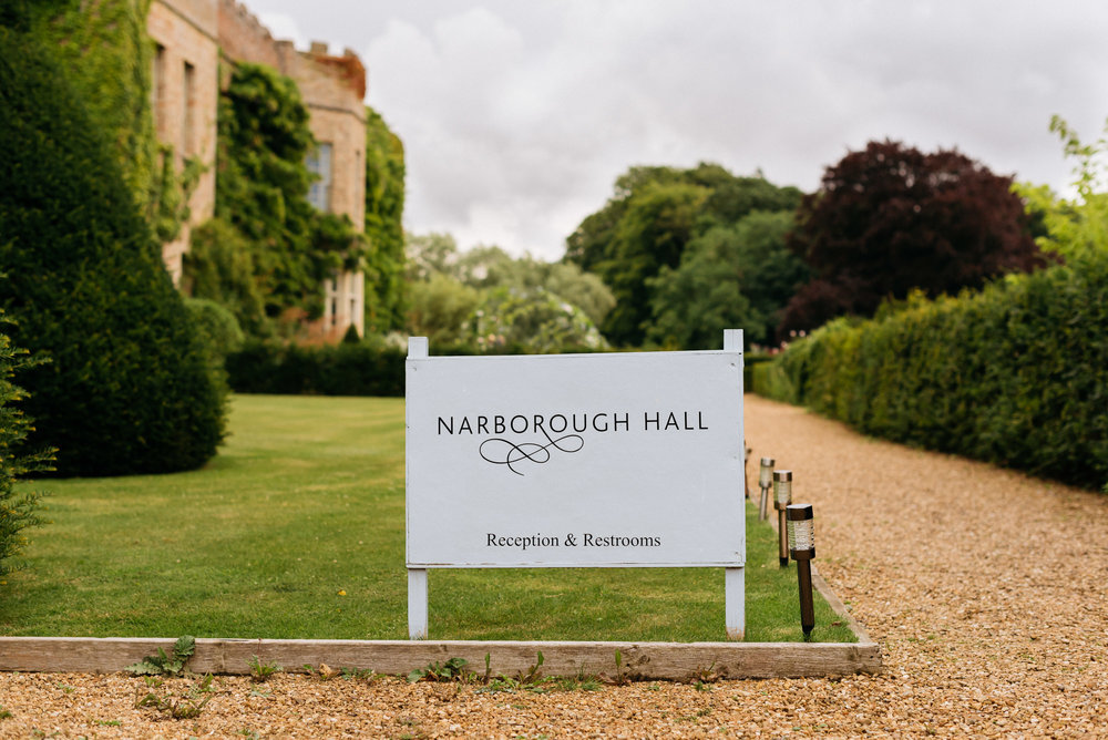 Narborough Hall Gardens Wedding