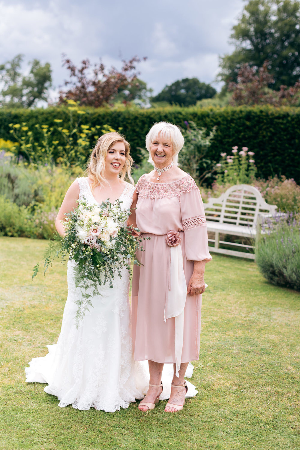 Bride and mother of the bride at Narborough Hall wedding