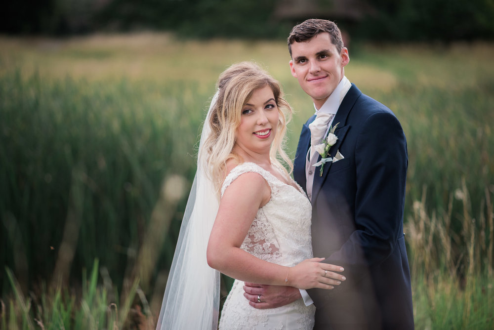 Wedding portrait at Narborough Hall Gardens