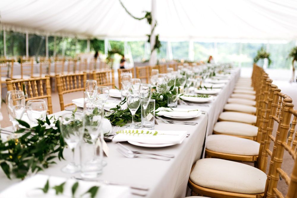 Wedding breakfast at Narborough Hall Gardens