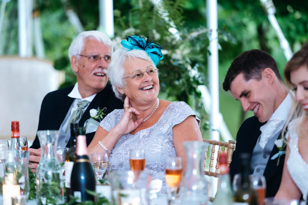 Wedding speeches at Narborough Hall Gardens in Norfolk