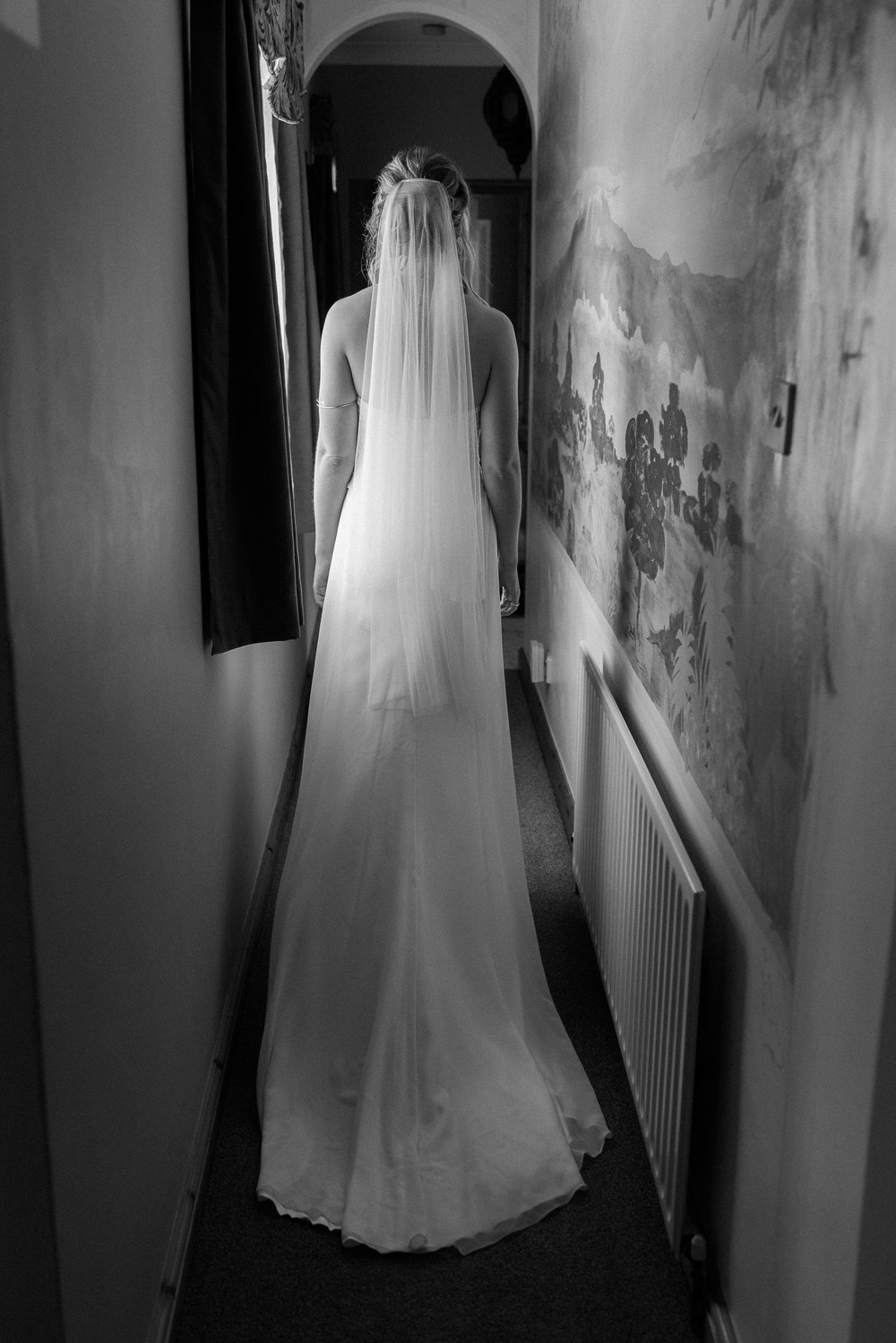 The bride on her way to her wedding