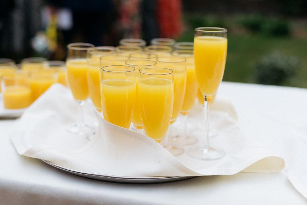 Wedding reception drinks at Risley Hall