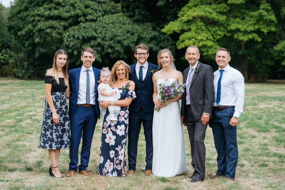 Formal photograph of the family