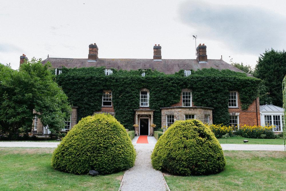 Rear gardens at Risley Hall