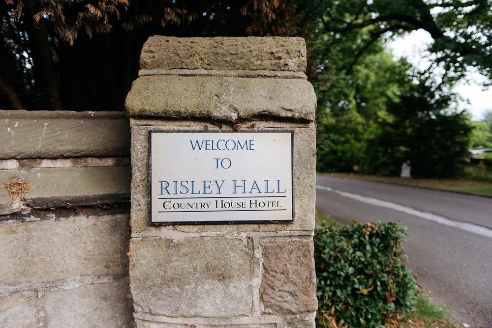 Risley Hall wall plaque