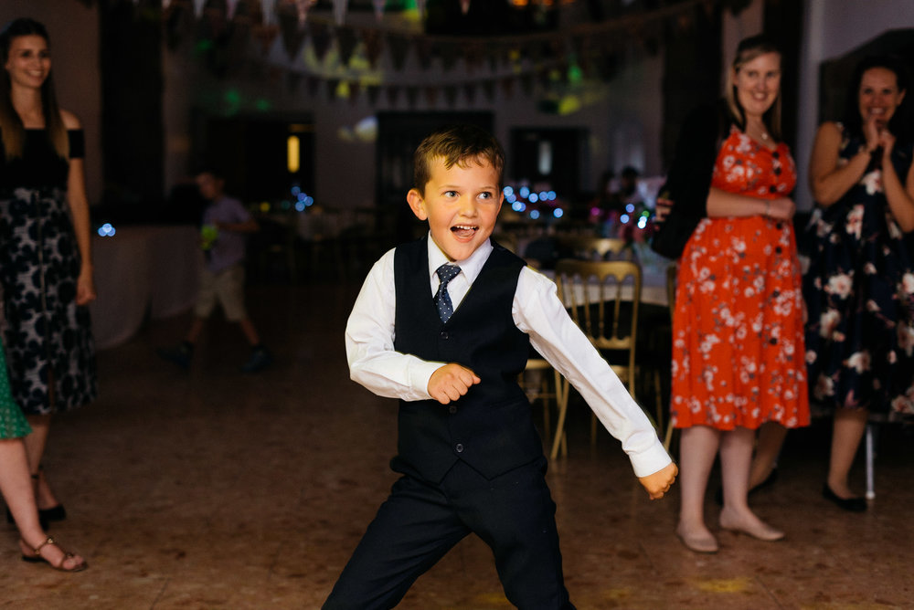 boy dancing at the wedding