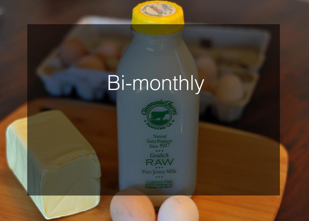 Bi-monthly delivery ($20 minimum order)