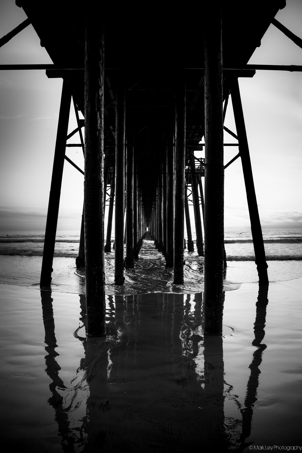 Under the Oceanside Pier by Mark Ley