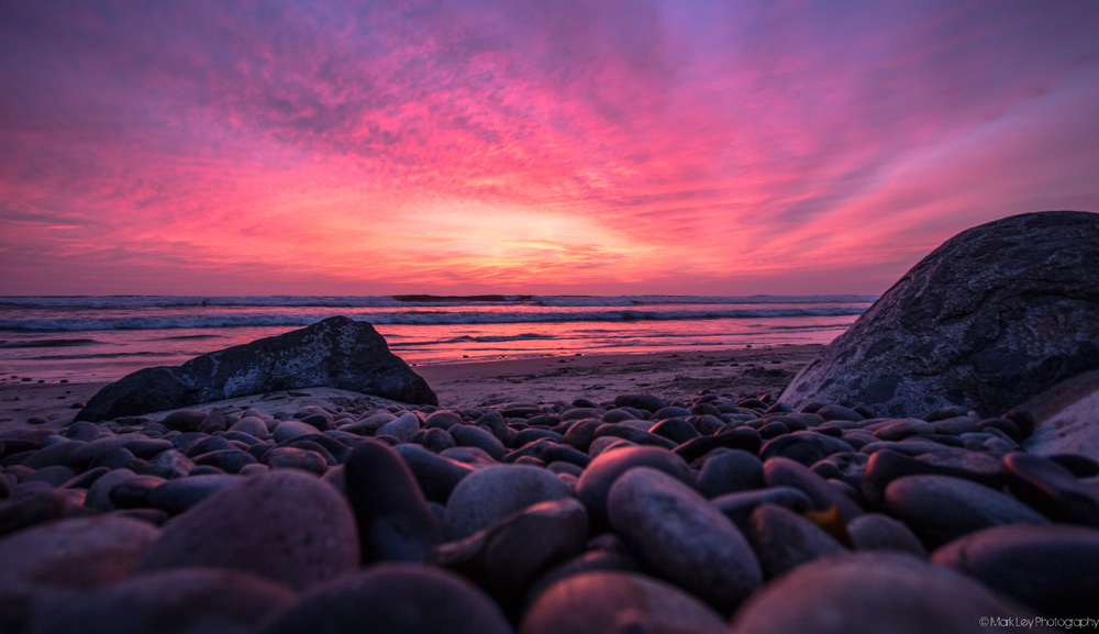 Pebbles at Terramar Beach in Carlsbad California by Mark Ley