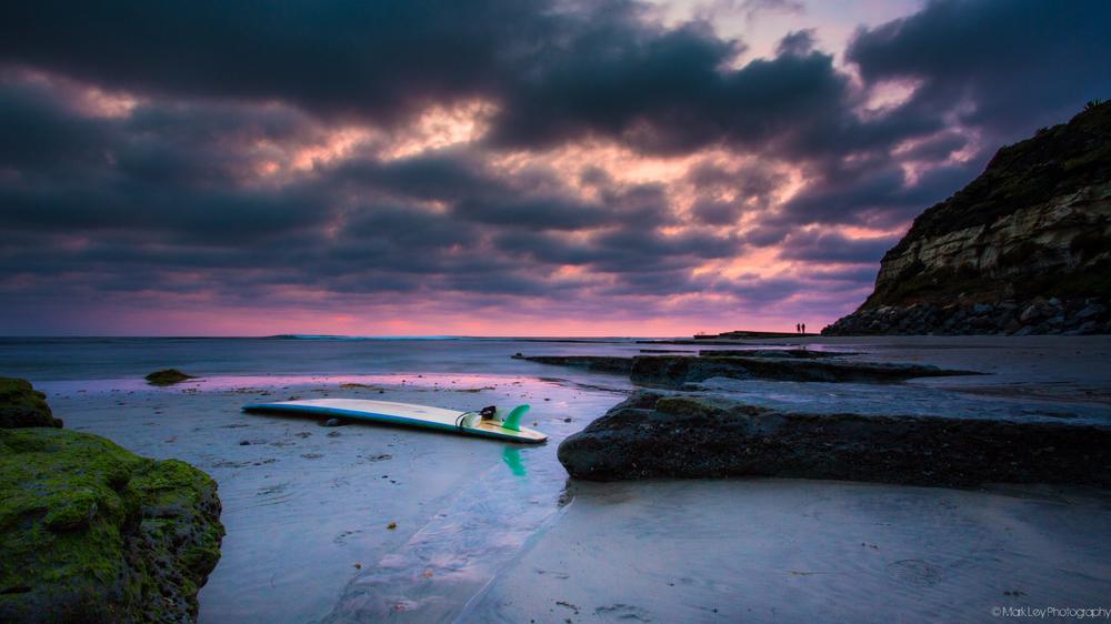 Last look at Swami's beach in Encinitas by Mark Ley