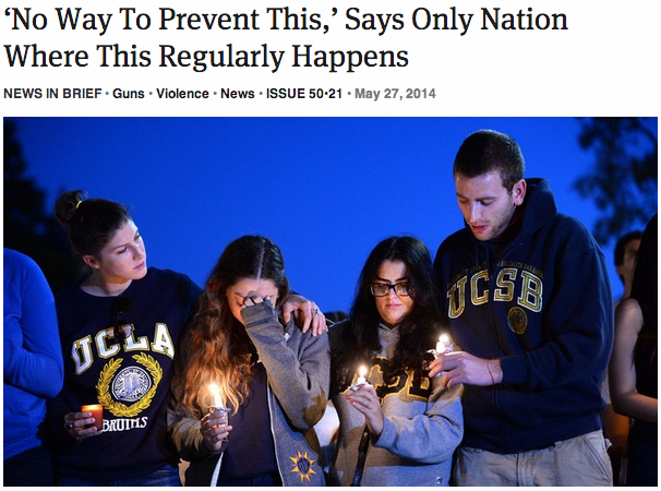 theonion: 'No Way To Prevent This,' Says Only Nation Where This Regularly Happens