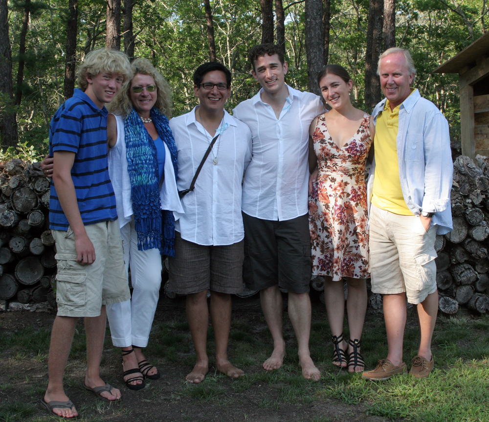 Tim and I got married four years ago. Here we are surrounded by my wonderful family. My mom was so proud.