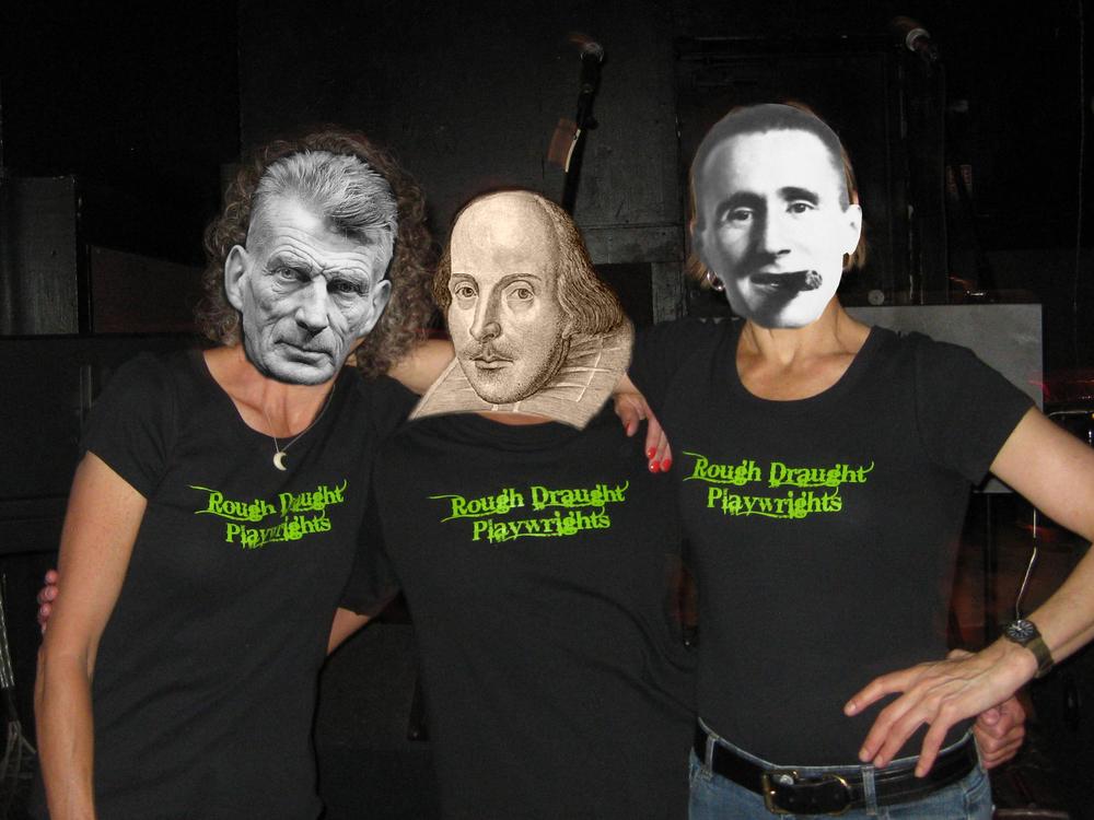 Rough Draught Playwrights Leslie C. Lewis, Jeffrey Neuman, and Nina Alice Miller, thinking big