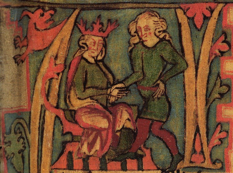 From Flateyjarbok: King Haraldr Hárfagri and Halvdan svarte