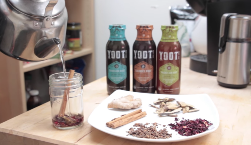 YOOT Herbal Root Teas - the 1st ready to drink tea brewed with superfoods to promote health and wellness.