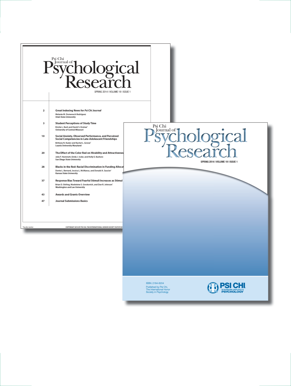 Psi Chi Journal of Psychological Research Table of Contents