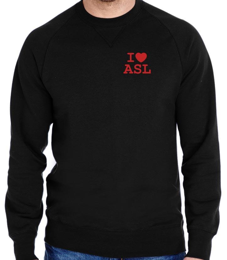 67addb741683 Reading ASL Crewneck Sweatshirt — RockHound Apparel - Screen ...