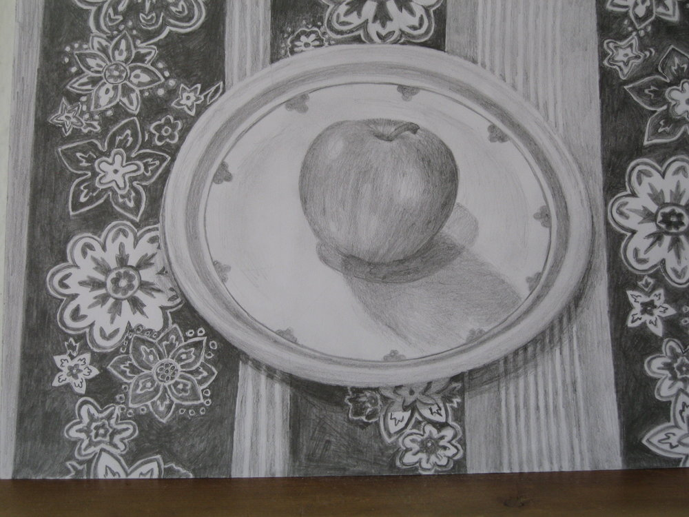 APPLE, 2010  graphite drawing 42x30cm
