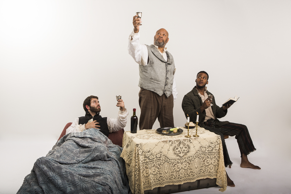 The cast of 'The Whipping Man' (from left): Andrew Prescott, Carl Brooks, and Luther Simon.