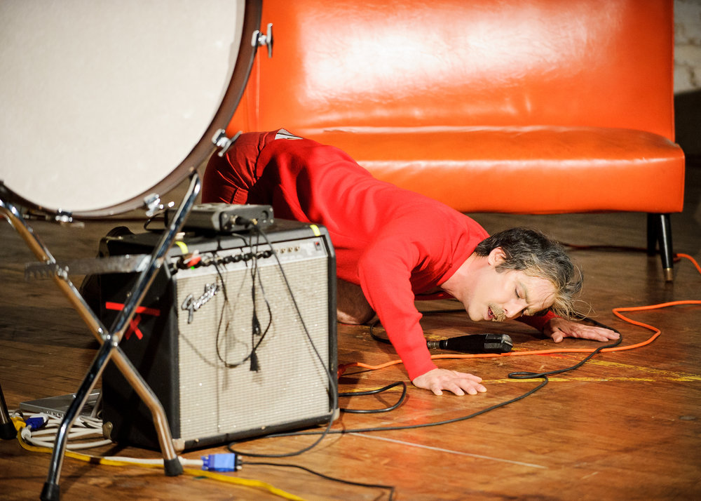 American Tantrums - One-man performance. Debut at Movement Research Festival, NYC, 2012.
