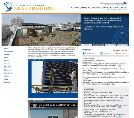 U.S. Department of Energy homepage photo feature