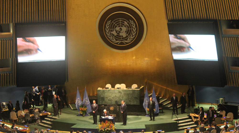 Palestine signs the climate agreement