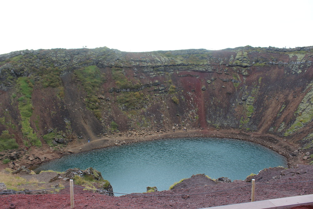 - Kerið Volcano Crater -our first landmark. Tip: wear sturdy walking boots, as there is loose soil by the crater's edge.