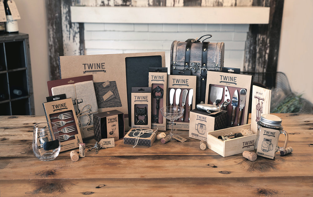 Sample range of Twine products, each featuring a custom illustration