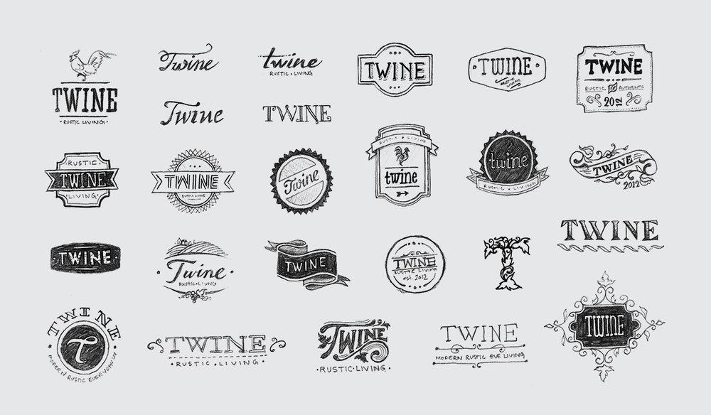 Initial logo sketch concepts