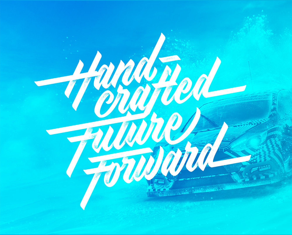 Homepage lettering