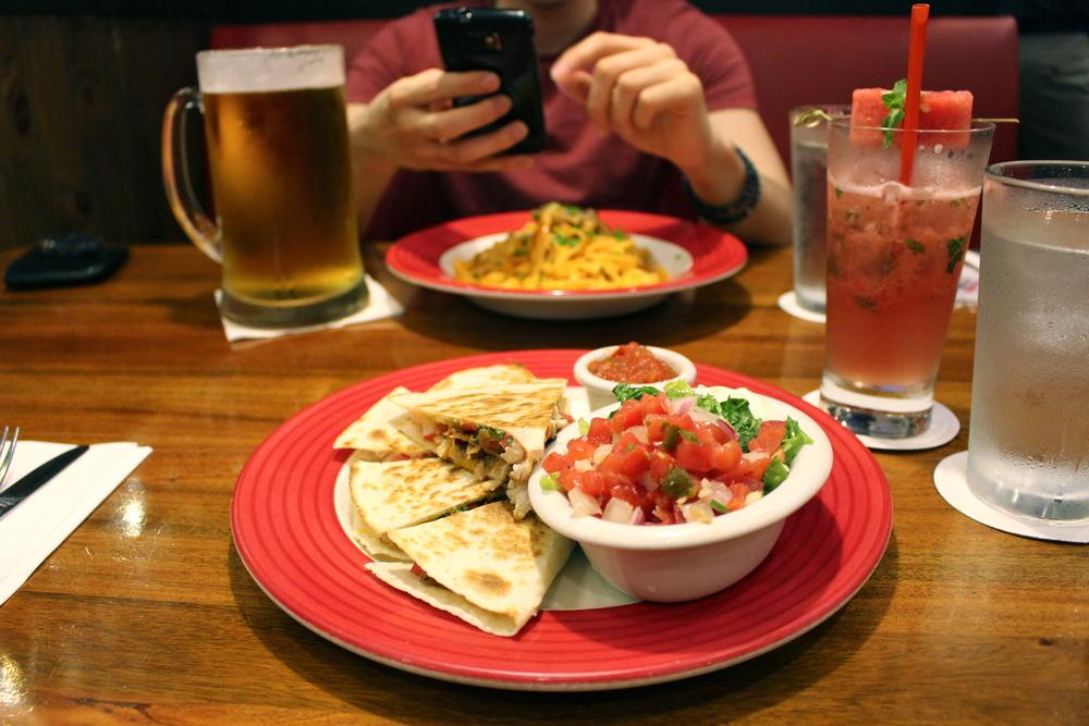Quesadillas at TGI Friday's
